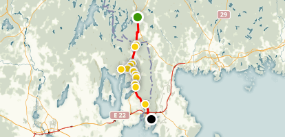 Banvallsleden Bicycle Trail Map