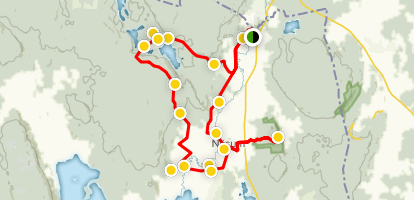 Näsumaleden Hiking and Cycling Trail Map