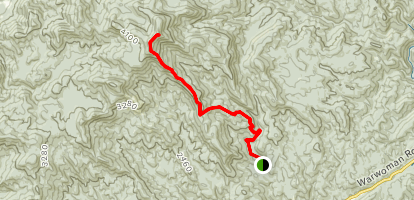 Rabun Bald via Sarah's Creek Map