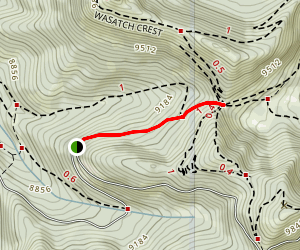Scotts Pass Via Great Western Trail Map