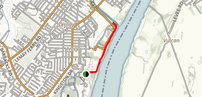 Mississippi River Greenway Map