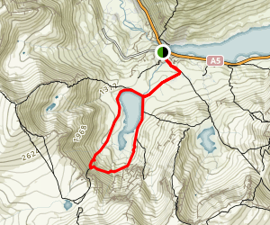 Lake Idwal Trail Map