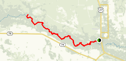 Fisheating Creek Canoe Trail Map