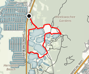 Weekiwachee Gardens Trails Map