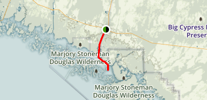 Everglades National Park: Carnestown to Chokoloskee Scenic Drive Map