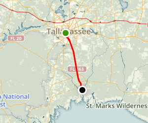 Tallahassee- St. Marks Historic Railroad State Trail Map