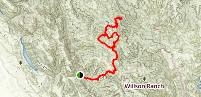 Henry Coe Pacheco Falls Loop from Hunting Hollow via Kelly Lake Map