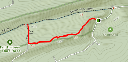 Tall Timbers and Thick Mountain Trails Map