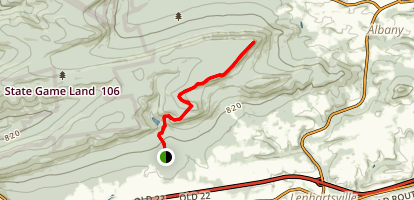 The Pinnacle Via Valley Rim Trail Map
