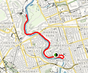 Humber River Recreation Trail Map