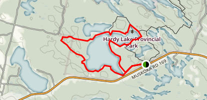 Hardy Lake Loop Trail Map