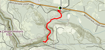 Robe Canyon Trail Map