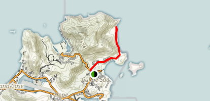 Grandes Cayes Hike Map