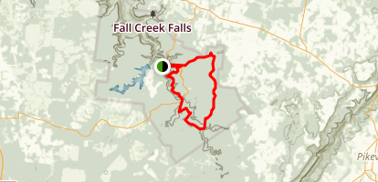 Fall Creek Falls Trail Half-Marathon Map