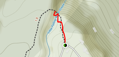 Falling Water Falls Trail Map