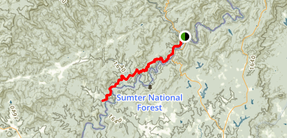 Bartram Trail to Sandy Ford Map