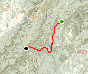 Appalachian Trail: Long Mountain Wayside to Little Irish Creek Map