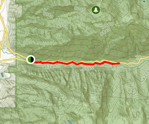 Temple Quarry and Little Cottonwood Creek Trail Map