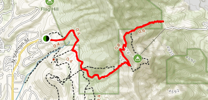Wyler Arial Tramway form Trans-Franklin Mountains South Map