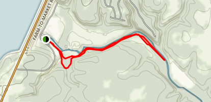 Chalk Ridge Falls Park Trail (CLOSED) Map