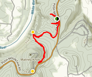 Matney Knob Trail Map