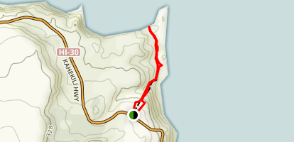 Nakalele Blowhole Trail Map