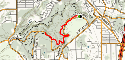 Tinker's Creek Gorge Scenic Overlook Map