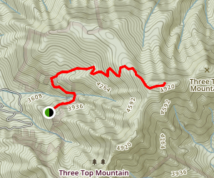 Three Top Mountain Trail Map