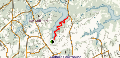 Nathaniel Greene Trail Map