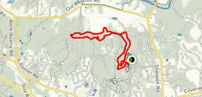 Clemmons State Educational Forest Trail Map