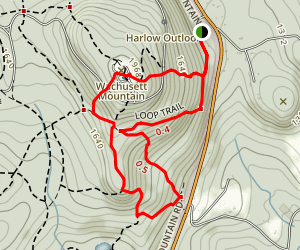 Pine Hill, Harrington, Jack Frost, Bicentennial, and Mountain House Loop Trail Map
