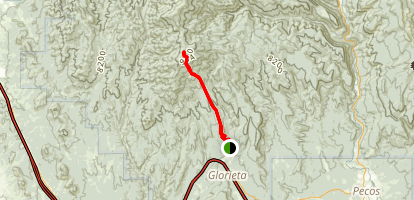 Glorieta Baldy Trail Map