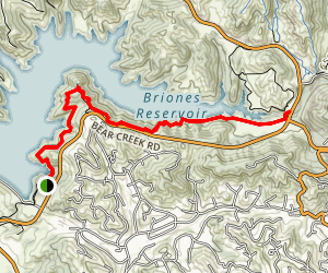 Briones Overlook via Bear Creek Trail Map