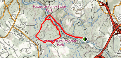 Cascade Falls Trail via Grist Mill Trail Map