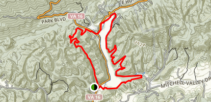 Cluburn Hollow and Lake Trail Loop Map