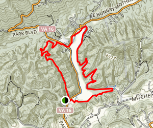 Clyburn Hollow and Lake Trail Loop Map