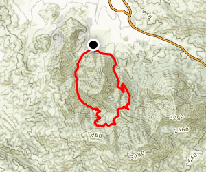 Mitchell Canyon to Back Creek Trail Loop Map