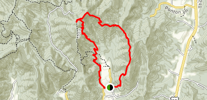 Fortune's Cove Via Yellow Trail Map