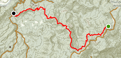 Appalachian Trail: Apple Orchard Falls to Jennings Creek Map