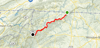 Blue Ridge Parkway: Virginia State Line to Blowing Rock ...