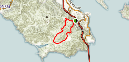 Bobcat Trail to Rodeo Valley Trail Loop Map