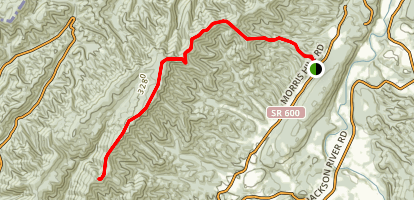 Oliver Mountain Trail Map