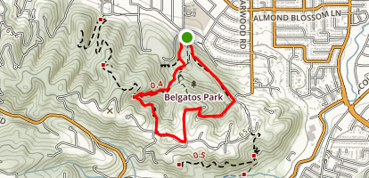 Belgatos Park Loop Map