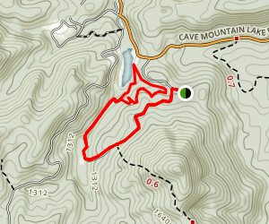 Cave Mountain Lake Map