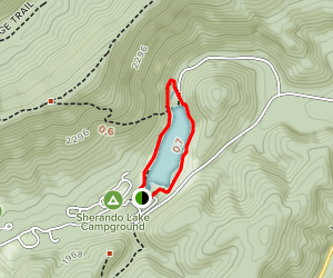Sherando Lake Loop Trail Map