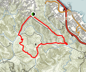 Tennessee Valley to Alta Ridge Loop Map