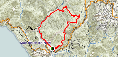 Dias Ridge and Redwood Creek Trail Loop Map