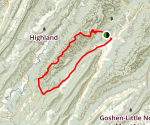 Shenandoah Mountain Loop Trail Map