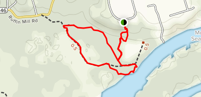 Point of Rocks Trails Map