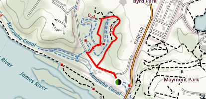 Dogwood Dell- Hiker Only Trail Map
